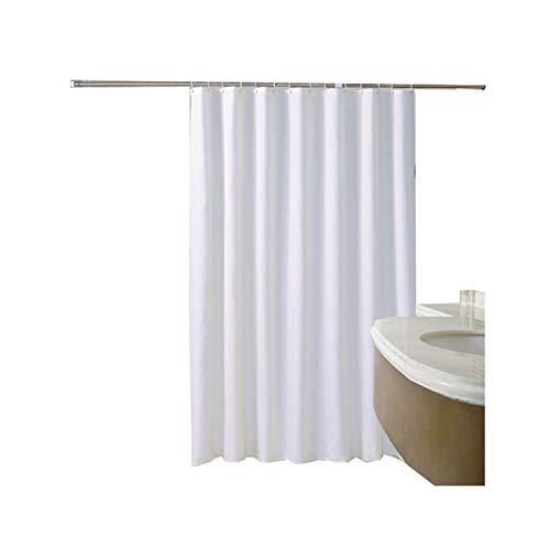MaxAst Reine Farbe Duschvorhang Anti Schimmel, Weiße Badewanne Vorhang 260x200CM, Antibakteriell Wasserdicht mit Kunststoff Ringe Kein Rost