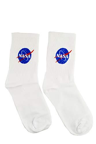 Nasa High Socke für Damen/Herren -  Weiß -  Einheitsgröße