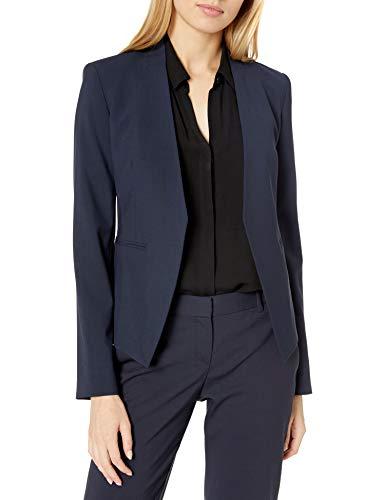 Theory Lanai Blazer Open Front - Blazer para Mujer (Talla 00), Color Azul Marino