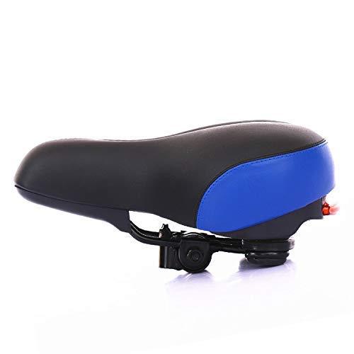 LXDDP Siège vélo, siège arrière vélo VTT en Cuir PU Coussin Souple siège arrière Rack Universel Selle élargi siège Confort Gonflable Accessoires vélo