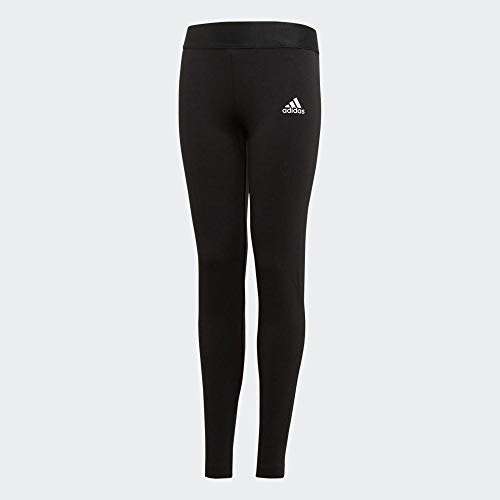 adidas Yg Mh 3s Tight Tights, Niñas, Black/White, 5-6Y