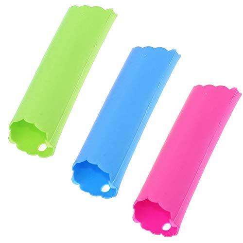 SRTYZ 12PCS Pela Ajos Silicona Peeling Tubo Herramienta no Tóxica Fácil Utiles Utensilios Accesorios de Pelar Ajo Gadgets de Cocina Mantenga Sus Manos Libres de Olores Fácil de Usar - 3 Colore