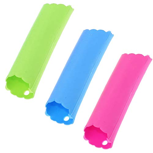 SRTYZ 12PCS Colorful Silicone Peeler Garlic Roller Peeler Gadgets Multifunctional Easy Peeling Tube Garlic Magic Kitchen Accessories Tool Keep Your Hands of Odor - 3 Colors