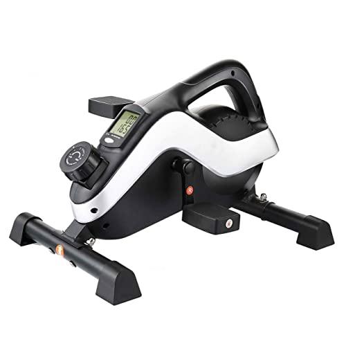 MTTLS Mini Bicicleta de Ejercicios con Pedal y Monitor LCD, Resistencia magnética Ajustable de 8 Niveles, máquinas de Entrenamiento elípticas compactas adecuadas para la Oficina en casa