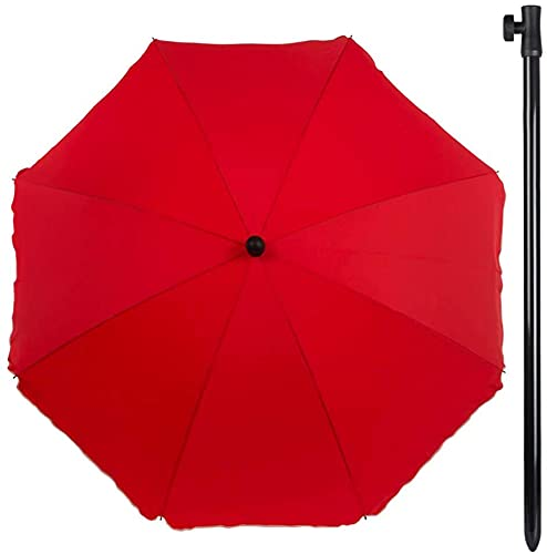 Aktive Sombrilla Filtro UV, Color Rojo, Diametro 240 cm (ColorBaby 85305)