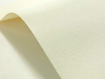 40 x Creme 246g Struktur-Papier Karomuster, Karo-Prägung DIN A5 148x210 mm, Elfenbeinkarton Chamois, Bastel-Karton geprägt, ideal für Visitenkarten, Einladungs-Karten, Zertifikate, Urkunden, Diplome