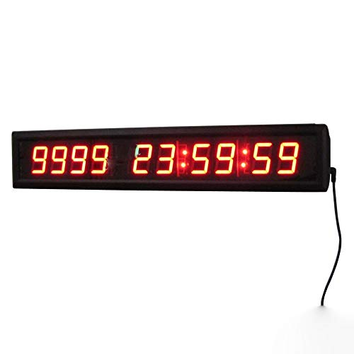 Countdown Klok Digitale Wandklok Timer Countdown Timer Interval Training Oefening Stopwatch met Afstandsbediening Digitale Timer 1.8-inch Zwart