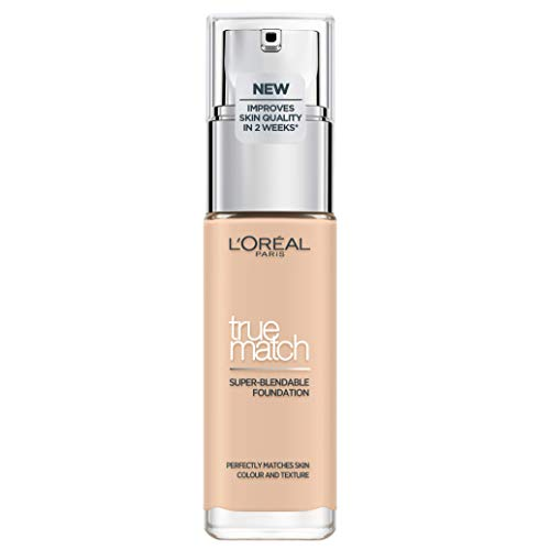 L'Oréal Paris True Match Foundation 1.N Ivory - L'Oréal Foundation met Hyaluronzuur & Natuurlijke Dekking, met SPF 17-30 ml (Perfect Match), 1.N Ivory