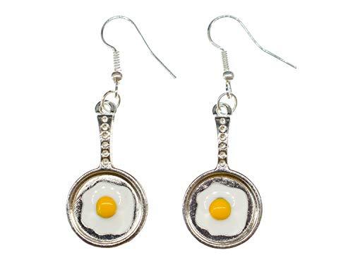 Aretes Sartén huevo frito pendientes Miniblings huevos de...