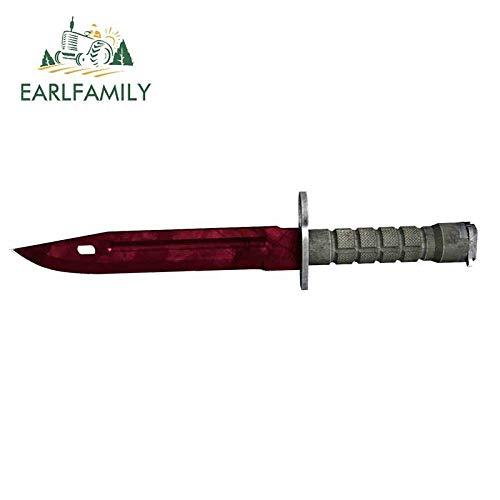 JYIP Earlfamil-calcomanía Fina para Coche Skin M9 13cm x 3 3 cm Cuchillo de Bayoneta Autocaravana decoración de estilismo Impermeable-Style_L