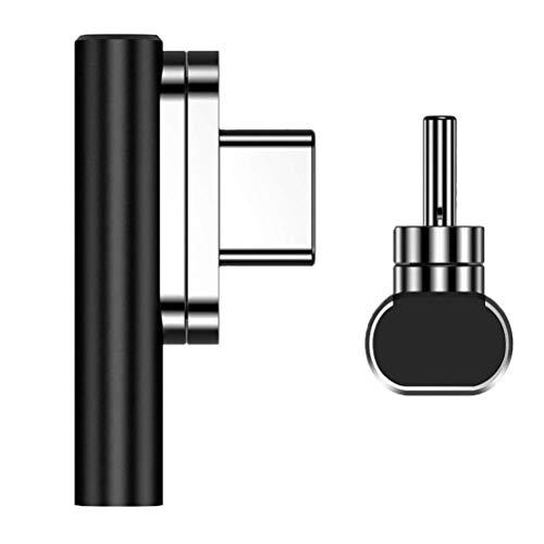 SHARRA Adaptador magnético USB Tipo C Adaptador Tipo C de 20 Pines Compatible con Macbook Pro DELL XPS Surface Go y más Dispositivos USB-C