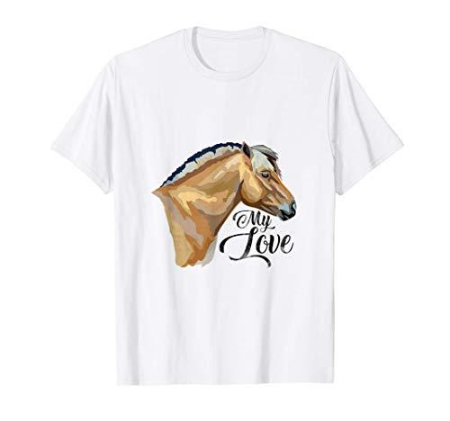 Norweger Fjordpferd Geschenk Fjordpony Pony Pferd Fohlen T-Shirt