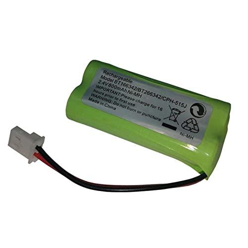 kusashangye Batería de Repuesto de Repuesto RC 5 Piezas 2.4V 800MAH Batería inalámbrica para teléfono residencial Accesorios para BT166342 BT266342 TL32100 Batería de 2.4v