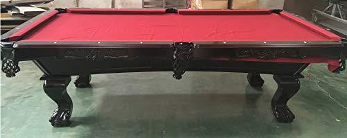 Kunibert 8 Ft. Tunierpoolbillard Billardtisch Pool Billard Modell Winsten Webster mit 3cm starken Schieferplatten Gestellfarbe: Nussbaum Dunkelbraun Tuchfarbe: Rot