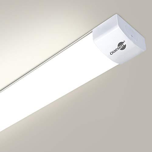 Öuesen LED Feuchtraumleuchte 120cm,36W 3600LM Werkstattlampe Röhre 4000K Natürliches Weiß Anschließbar Flimmerfreie Lampe IP66 Wasserfest für Bad Flur Garten Garage und Werkstatt[Energieklasse A++]