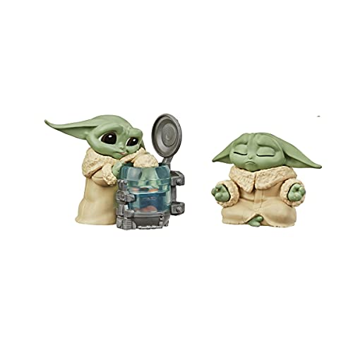 Star Wars The Bounty Collection Series 3 The Child Collectible Figures 2.25-Inch-Scale Curious Child, Meditation Posed Toys 2-Pack, Ages 4 and Up