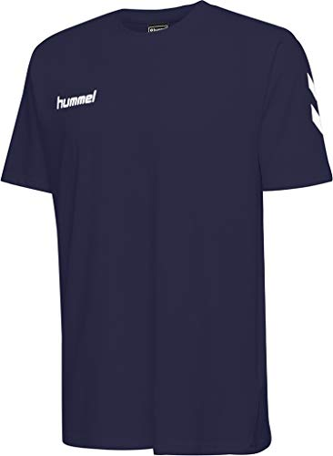 hummel Herren HMLGO Cotton T-Shirts, Marine, L