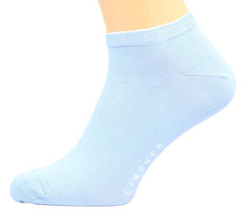 Max Lindner Sneaker Socken (Kurzsocken) Qualität seit 1921 95prozent Baumwolle, 5prozent Elasthan (35-38, hellblau)