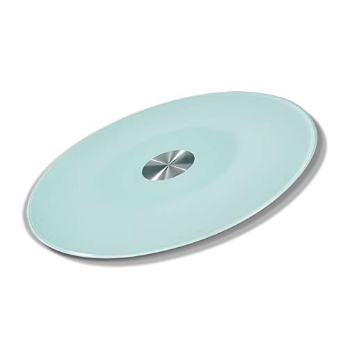 Lazy Susan Turntable for Patio Dining Table Glass Tray for Kitchen Hotel Restaurant Serving Plate Heavy Duty Tempered Glass