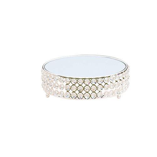 LIUXING-hm Bandeja para tartas de plata con soporte redondo para magdalenas, expositor...
