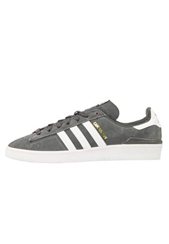 adidas Skateboarding Campus ADV, Grey Six-Footwear White-Gold Metallic, 10 ⭐