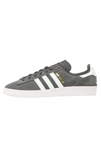 adidas Skateboarding Campus ADV, Grey Six-Footwear White-Gold Metallic, 5,5
