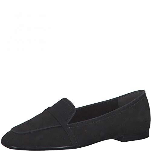 Tamaris Damen Slipper, Frauen Mokassins,Touch It-Fußbett,College,Schuhe,Loafer,Businessschuhe,Schlupfschuhe,Slip-ons,Lady,Black Uni,41 EU / 7.5 UK
