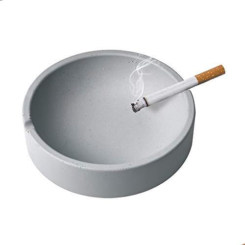 KACT Cenicero de Cigarrillos for Uso Interior o Exterior, Ash Soporte for los Fumadores, Escritorio Fumadores Cenicero for el hogar decoración de la Oficina (Gris)