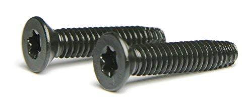 5/16-18 x 3 Flat Head Floorboard Thread Cutting Screws, Type F, (Star - Six Lobe - Torx Drive), Black Phosphate Finish, Countersunk, T-40 Drive (Carton: 100pcs) Alloy Steel