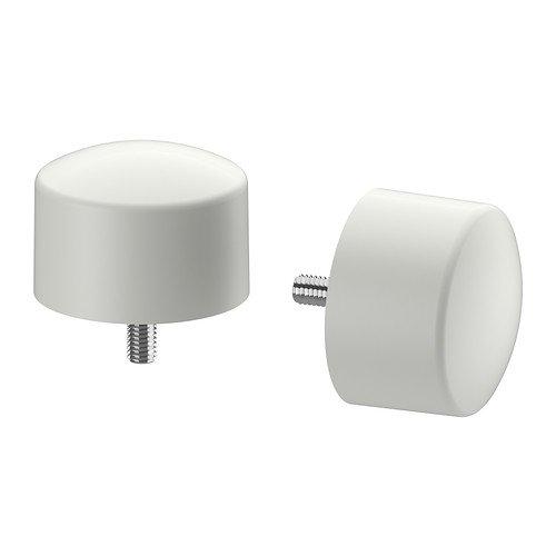 Ikea Raffig weiß - passend für RÄCKA und HUGAD Gardinenstangen