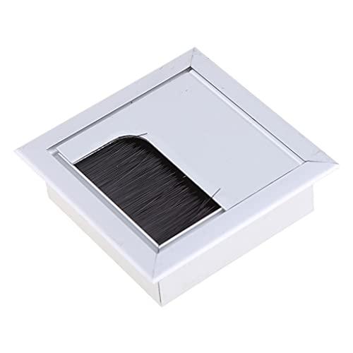 SHURROW Cubierta de Orificio de inserción de Salida de Cable de Alambre de computadora de Escritorio Rectangular Cuadrada de Aluminio