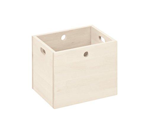 BioKinder 22181 Lara opbergbox organizer box organizer box groot massief hout grenen 30 x 38 x 30 cm wit gelakt