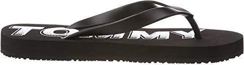 Hilfiger Denim Herren Tommy Jeans Rubber Beach Sandal Zehentrenner, Schwarz (Black 990), 43 EU