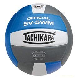 Tachikara Full Grain Leather VolleyBall Blu White Sil