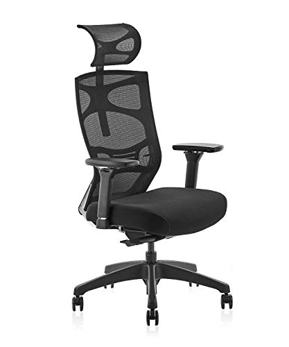 CLATINA Ergonomic Mesh Executive Chair with 4D Arm Rest and Adaptive Synchronize Seat High Back Swivel for Home Office