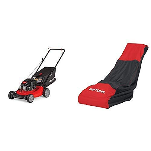 Craftsman M105 140cc 21-Inch 3-in-1 Gas Powered Push Lawn Mower with Bagger and Lawn Mower Cover