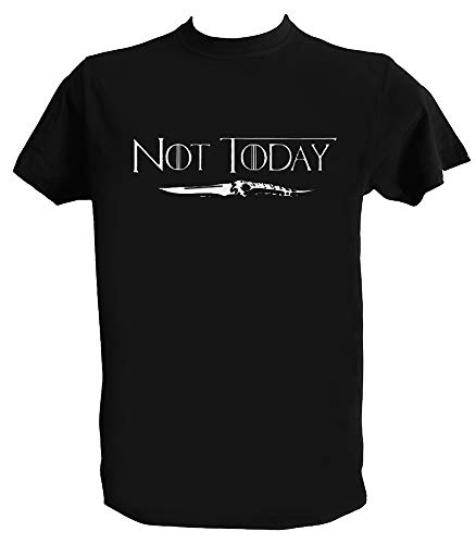 T Shirt Not Today Arya Got Homme Enfant Tee Shirt Game of Thrones Stark, Homme - L