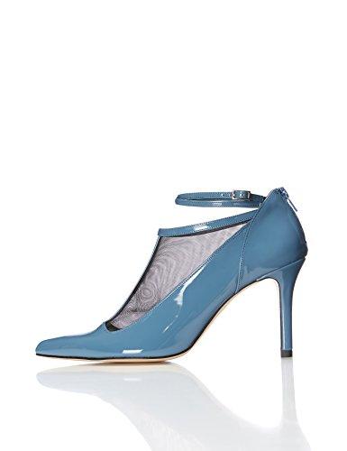 Find. Zapatos Estilo Mary Jane Charol Mujer, Azul