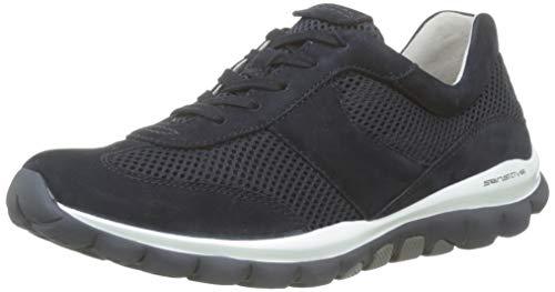 Gabor Shoes Damen Rollingsoft Sneaker, Blau (Nightbl.(S.W/Blau) 46), 37.5 EU
