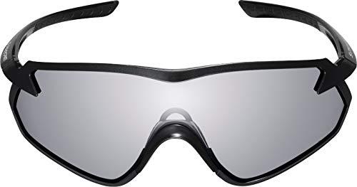 SHIMANO Gafas Y21, Occhiali Ciclismo Unisex-Adulto, Nero con Photochromic D Gray (Multicolore), Taglia unica