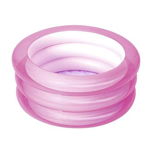 Ownlife 30x70cm Verano inflables del Niños Ronda Cuenca Bañera Portable al Aire Libre del Deporte del Cabrito Juega Piscinas de Bolas Juguetes Océano (Color : Pink)