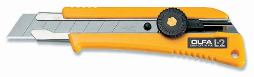 OLFA OLF-L-2 Snap-Off Blade Cutter Rubber Grip HD Cutter, Snap-Off Blade Cutter