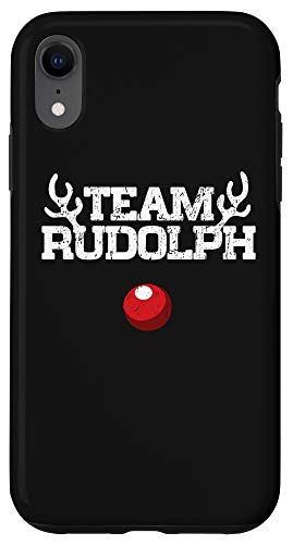 iPhone XR Team Rudolph Funny Christmas Reindeer Lover Gift Case