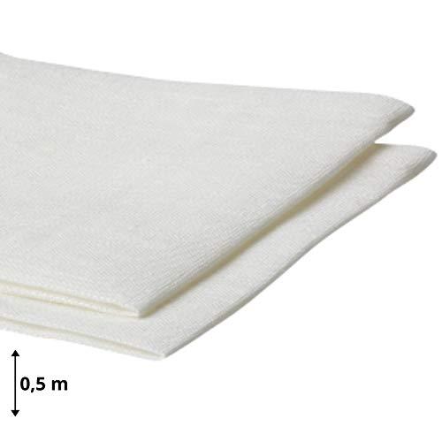 Amazinggirl Baumwollstoff Meterware weiß Stoff aus 100% Baumwolle 1,6 m x 1 m - Stoffe zum Nähen Nähstoffe Uni Baumwollstoffe Öko-Tex Standard 100