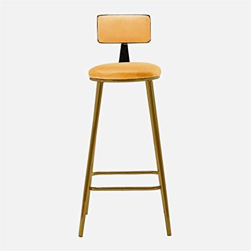XXSHN Simplicidad Creativa Atmósfera Simple Taburete de pie Alto Silla con Respaldo Silla de decoración del hogar Taburete de Bar Tienda de té Casa de postres Silla de Escritorio con Pedal 6 Colores