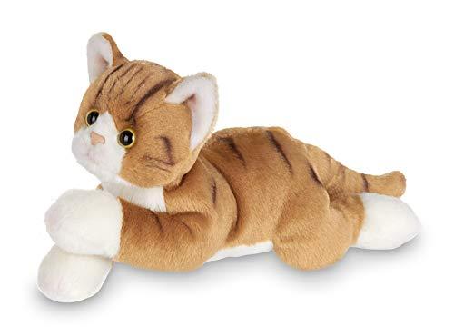 Bearington Lil' Tabby Small Plush Stuffed Animal Orange Striped Tabby Cat, Kitten 8 inch