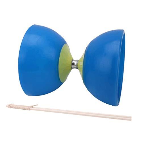NUOBESTY Klassisches Chinesisches Yo-Yos Diabolo Jonglierendes Spinnspielzeug mit Handstöcken (Blau)