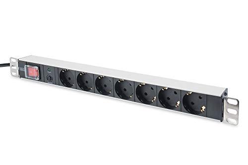 Regleta DIGITUS 19 '- 7 tomas - 1U - 250VAC - 50 / 60Hz - 16A - 4000W - Con protección de sobrecarga