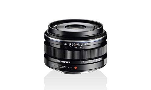 Olympus Objetivo M.Zuiko Digital 17 mm F1.8, longitud focal fija rápida, apto para todas las cámaras MFT (modelos Olympus OM-D & PEN, serie G de Panasonic), negro