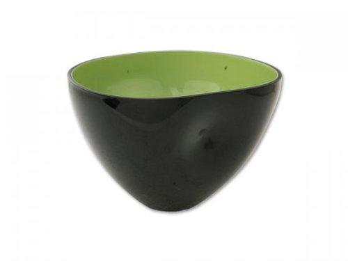 Aniba Design Design Deko Schale Anna 2, schwarz/grün ABVA0018-2